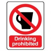 Prohibition safety sign - Drinking Prohibited 044